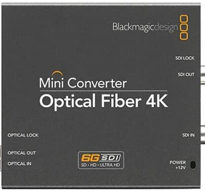 Blackmagic Design Mini Converter Optical Fiber 4K CONVMOF4K Pro Video Black Magic