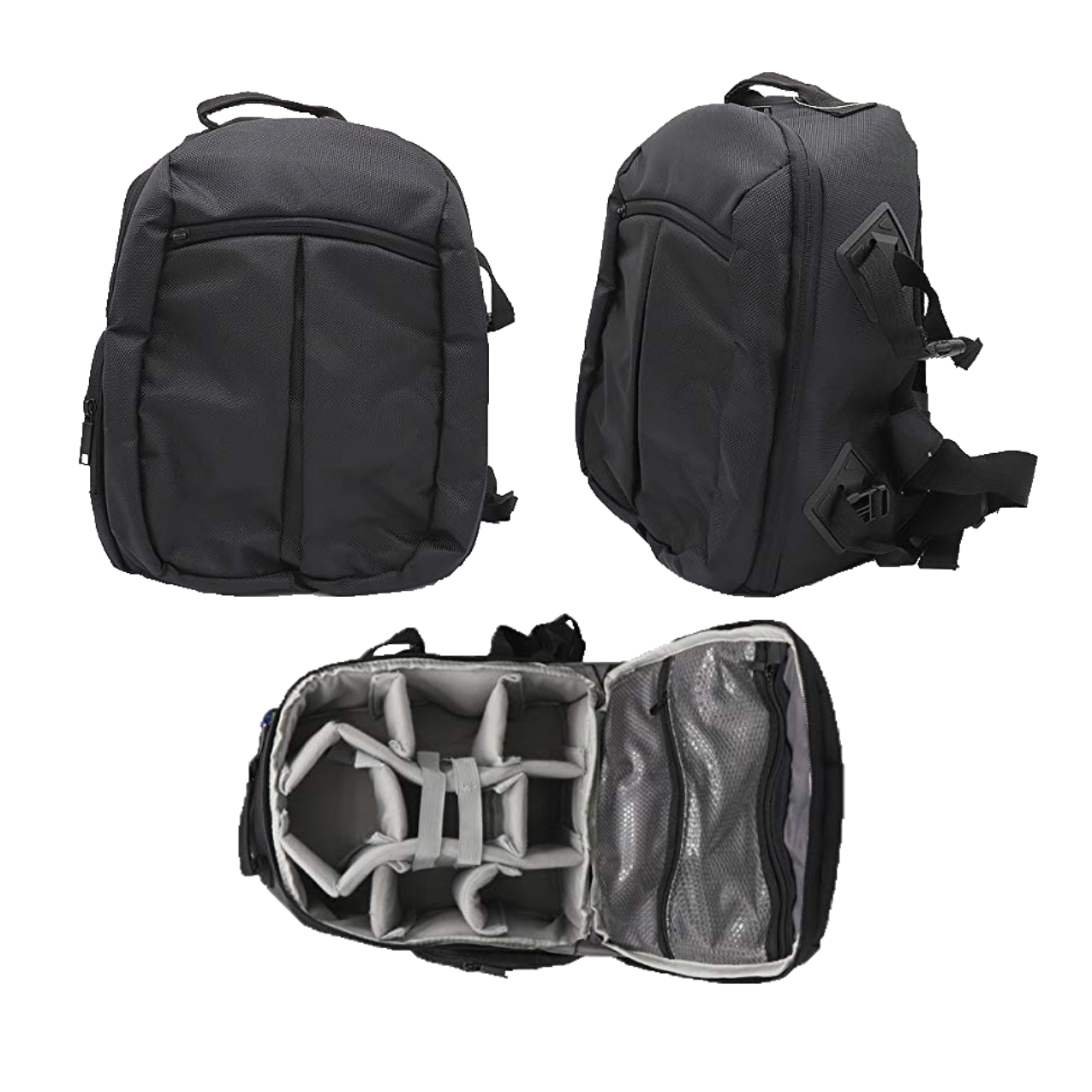 Solibag Slr Camera Travel Backpack Waterproof Carry Bag For Canon, Nikon, Sony, Pentax Black Shoulder Case -7001 Pack Of 3Pcs Camera Bags Camera Bags