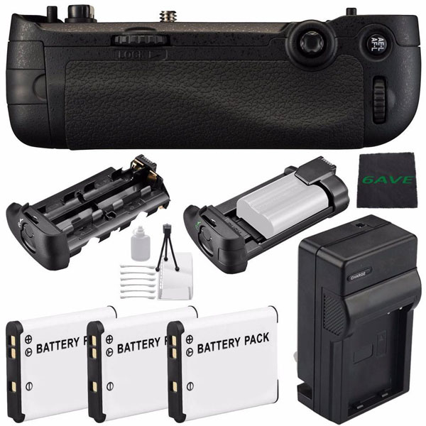 Jupio For Nikon MB-D16 Multi Battery Power Pack/Grip for D750 Batteries & Power Battery And Charger
