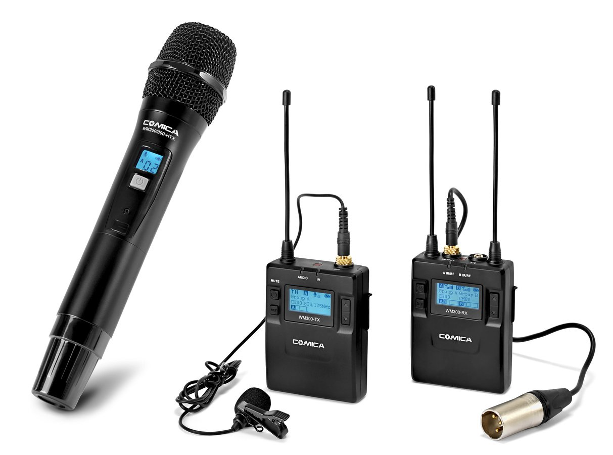 Comica Audio CVM-WM300B 2-Person Camera-Mount Wireless Combo Microphone System Audio audio