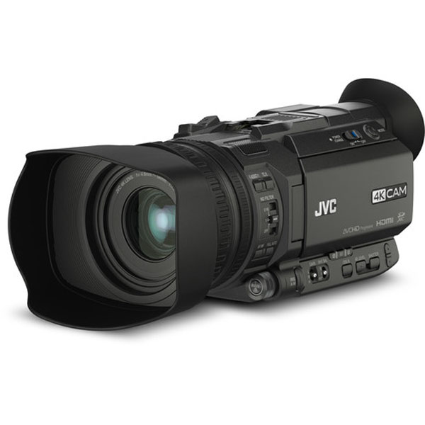 JVC GY-HM170UA 4KCAM Compact Professional Camcorder with Top Handle Audio Unit Pro camcorders & Cameras Jvc