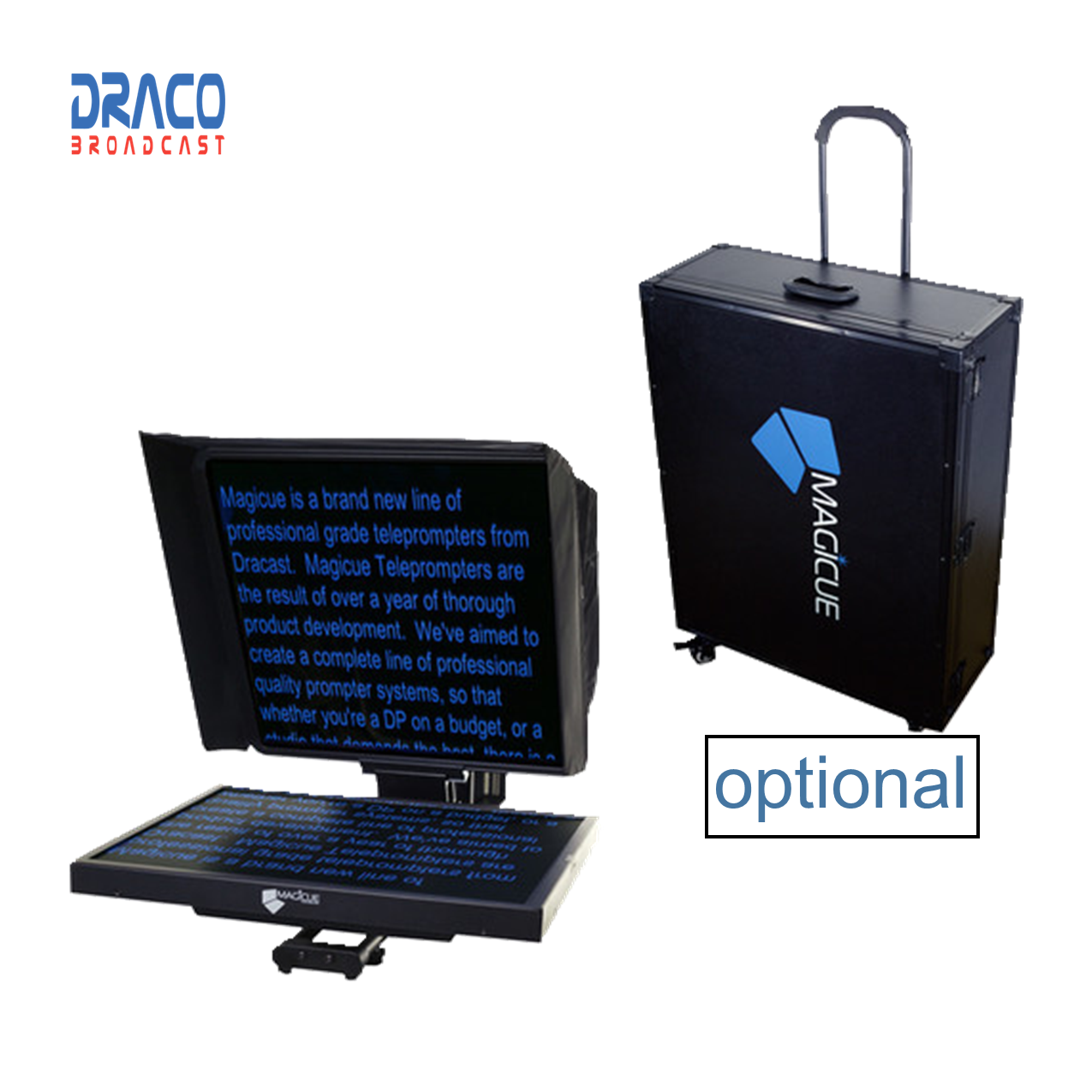 MagiCue Studio 17″ Prompter Kit with Hard Case Pro Video Draco Broadcast