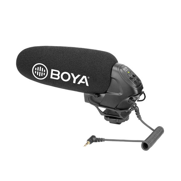BOYA BY-BM3031 On-Camera Supercardioid Shotgun Microphone Audio Wired Shotgun Mics ENG/EFP audio
