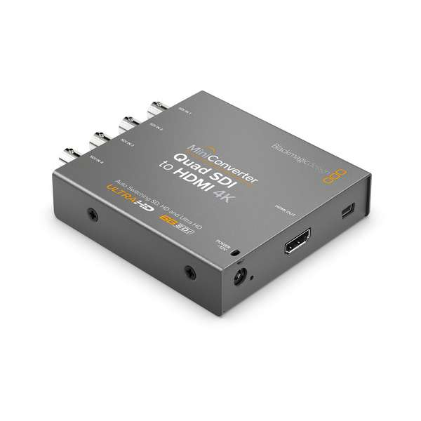 Blackmagic Design Mini Converter Quad SDI to HDMI 4K 2 CONVMBSQUH4K2 Pro Video Black Magic