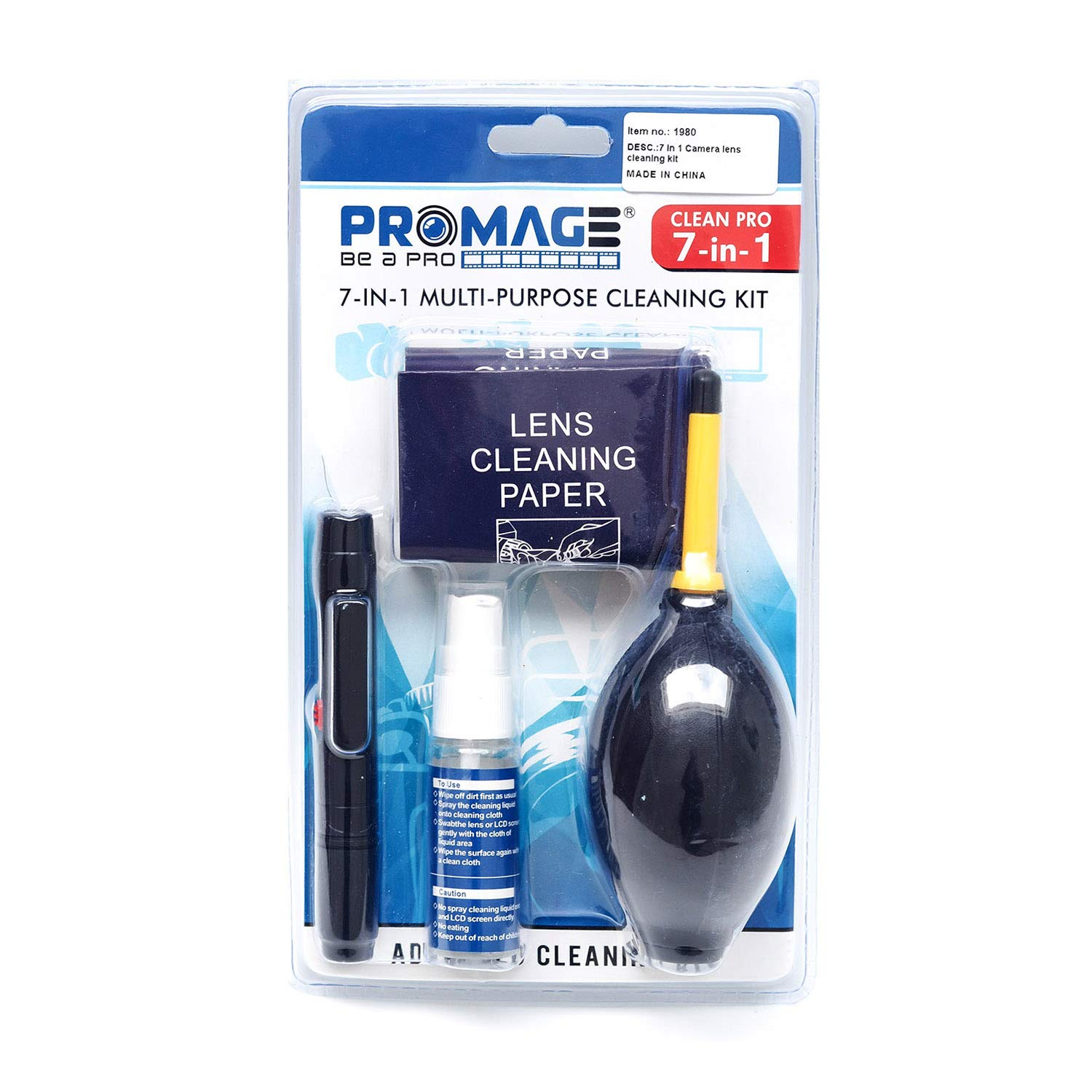 Promage 7 In 1 Multi Purpose Cleaning Kit – PM111 Lens & Optics Cleaning Supplies Photography