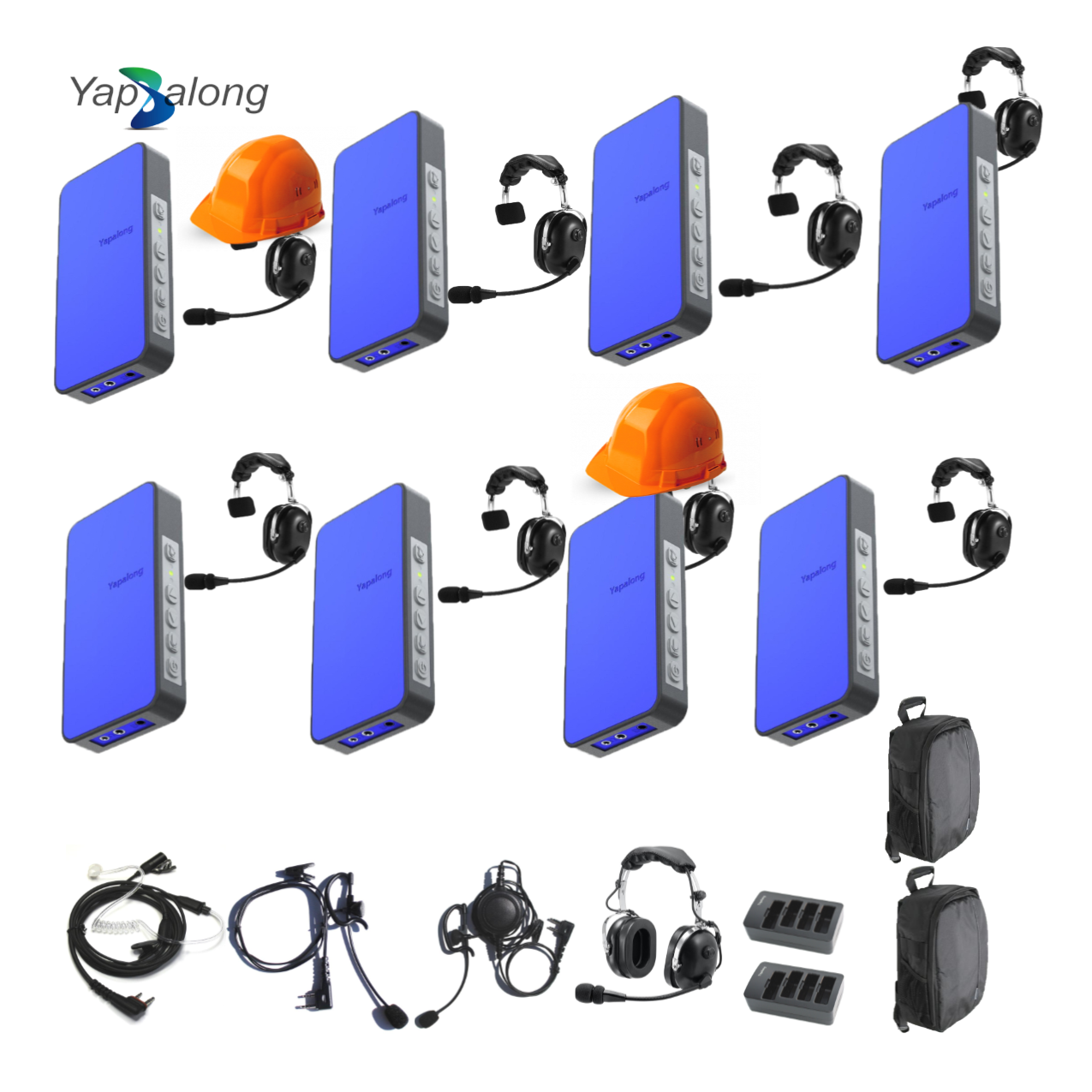 Yapalong 5000 (8-User) Industrial Complete Set Communications & IFB Intercom Systems