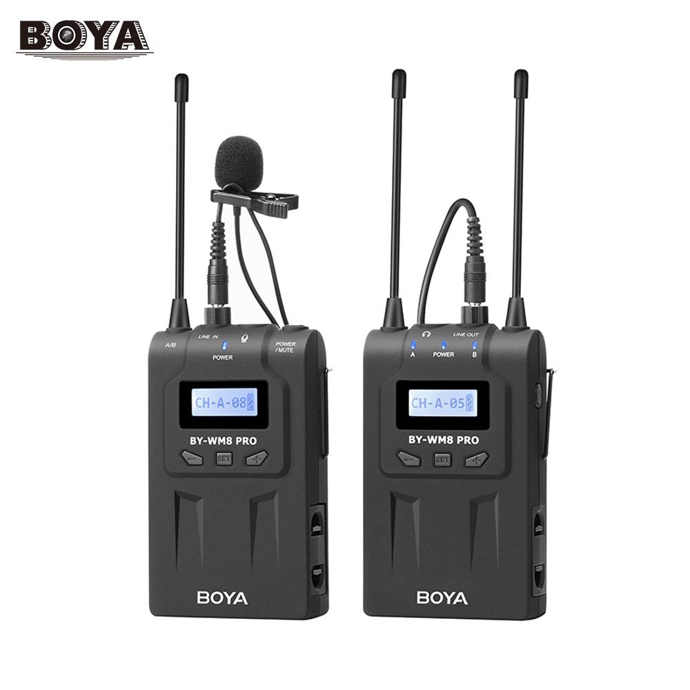 BOYA BY-WM8 Pro-K1 UHF Dual-Channel Wireless Lavalier System Audio audio