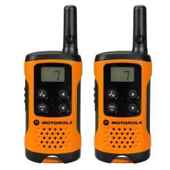 Motorola Walkie Talkies T41 Orange Twin Pack Intercom Systems Intercom Systems