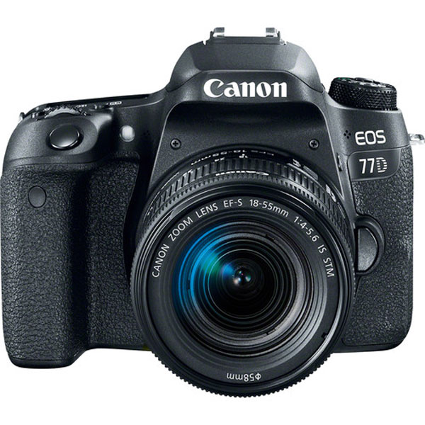 Canon EOS 77D DSLR Camera with 18-55mm Lens DSLR Cameras Canon