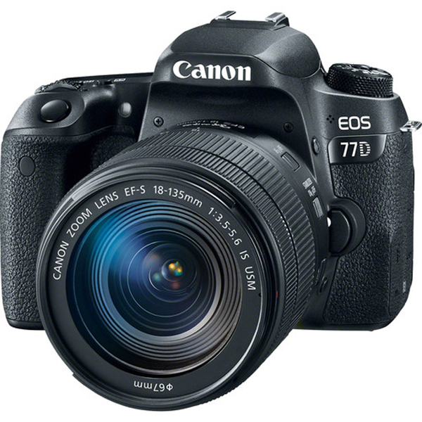 Canon Camera EOS77D 18-135 IS USM DSLR Cameras Canon