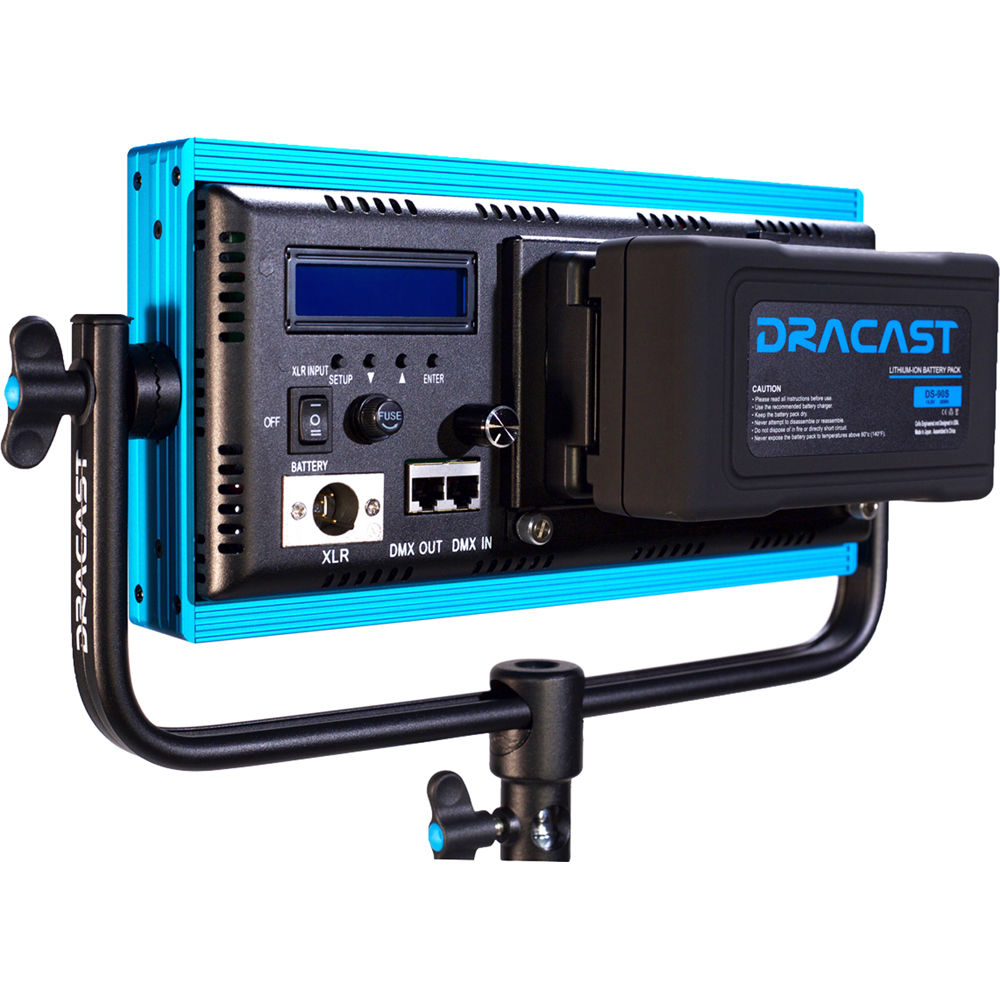 Dracast Plus LED500 Daylight 3-Light Location Kit with V-Mount and Gold Mount Battery Plates Continuous Lighting Draco Broadcast