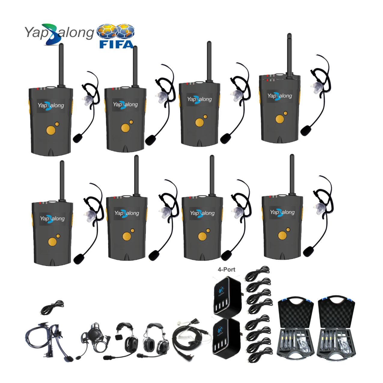 Yapalong 4000 (8-User) Complete Set Intercom Systems Intercom Systems
