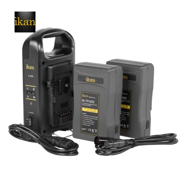 Ikan PRO POWER KIT W/ 2 X IB-TR192 BATTERIES & DUAL CHARGER Battery And Charger Battery And Charger