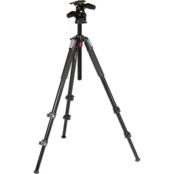 Manfrotto MT055XPRO3-3W Aluminum Tripod with 3-Way Pan/Tilt Head Pro Video Manfrotto