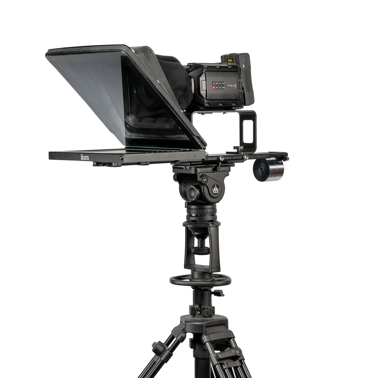 Ikan PROFESSIONAL 15″ HIGH BRIGHT BEAM SPLITTER TELEPROMPTER WITH 15″ TALENT MONITOR KIT Pro Video Ikan