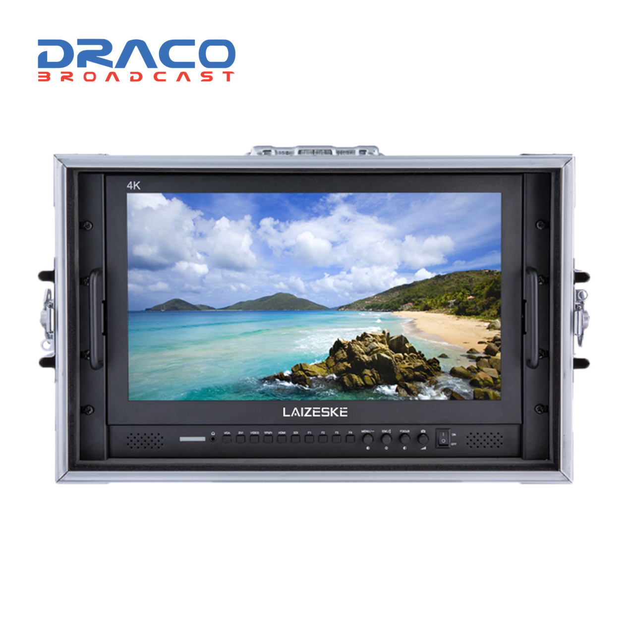 Laizeske 17.3″ Full-HD Carry-On Broadcast Director Monitor with HDMI and 3G-SDI