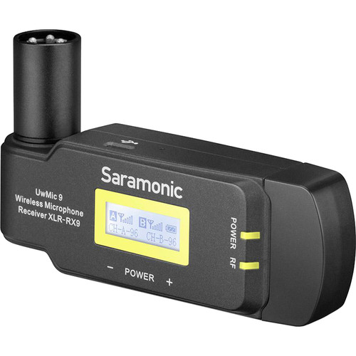 Saramonic RX-XLR9 Dual-Channel Wireless Plug-In Receiver for UwMic9 System Audio audio