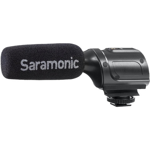 Saramonic SR-PMIC1 Supercardioid Unidirectional Condenser Microphone Audio Wired Shotgun Mics ENG/EFP audio