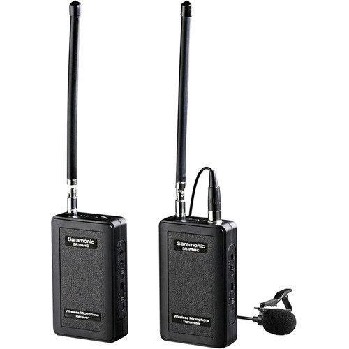 Saramonic SR-WM4C VHF Camera-Mount Wireless Omni Lavalier Microphone System Pro Audio audio