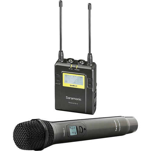 Saramonic UwMic9 Camera-Mount Wireless Cardioid Handheld Microphone System Pro Audio audio