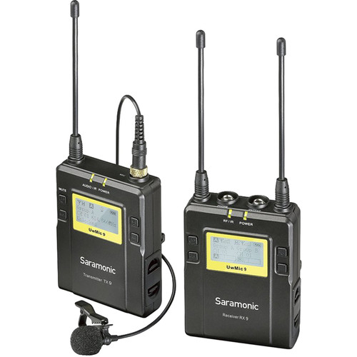 Saramonic UwMic9 Camera-Mount Wireless Omni Lavalier Microphone System Pro Audio audio
