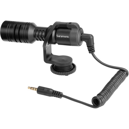 Saramonic Vmic Mini Ultra-Compact Camera-Mount Shotgun Microphone for DSLR Cameras and Smartphones Audio Wired Shotgun Mics ENG/EFP audio