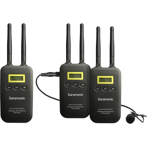 Saramonic VmicLink5 RX+TX+TX Camera-Mount Digital Wireless Microphone System with Two Transmitters and Lavalier Mics Best Sellers audio