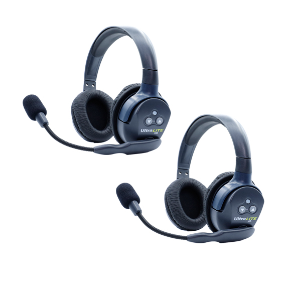 Eartec Ultralite HD 2 Person System W/ 2 Double Headsets, Batteries, Charger & Case Communications & IFB Eartec