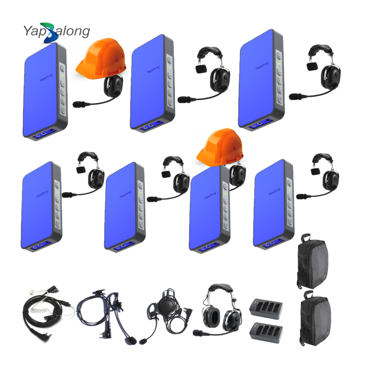 Yapalong 5000 (7-User) Industriale Complete Set Intercom Systems Intercom Systems