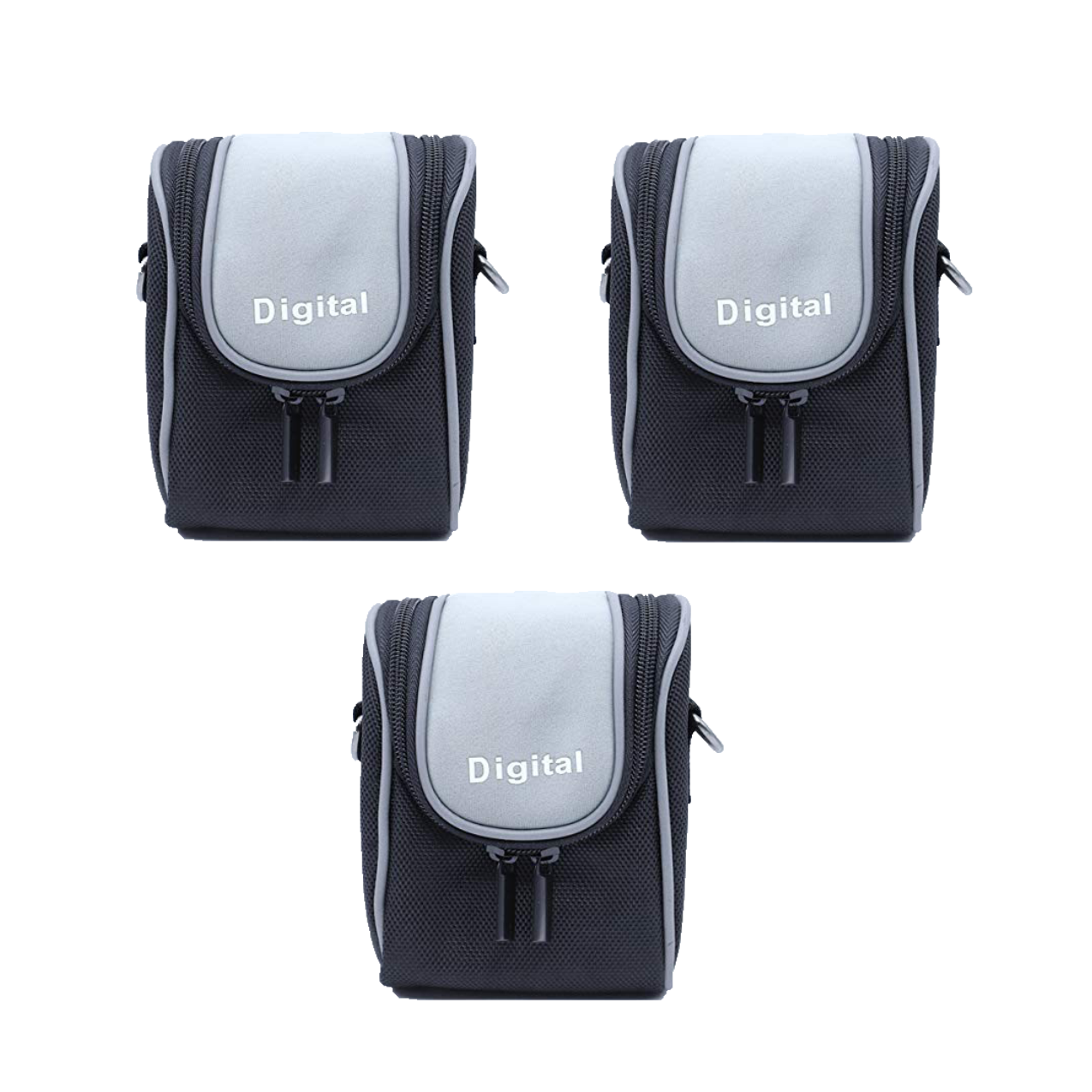 Solibag Durable Camera Case, Black -4004-2321 Pack Of 3Pcs Camcorder & Camera Accessories Camera Bags