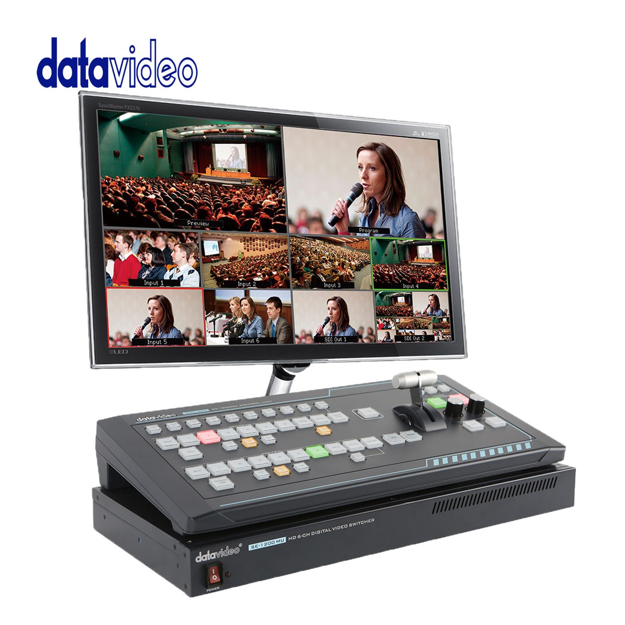 Datavideo SEB-1200 The Shortest Learning Curve Of Any 6-Input Switcher Pro Video Data Video