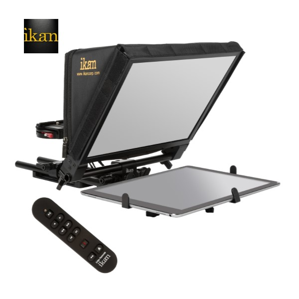 Ikan Elite Universal Large Tablet, And Ipad Pro Teleprompter W/ Elite Remote Pro Video Ikan