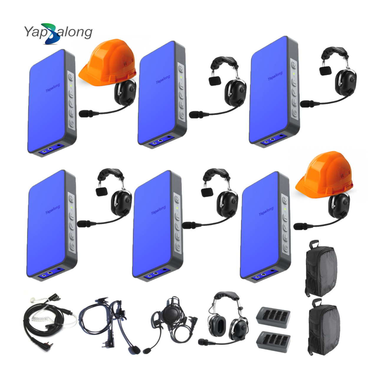 Yapalong 5000 (6-User) Industriale Complete Set Intercom Systems Intercom Systems