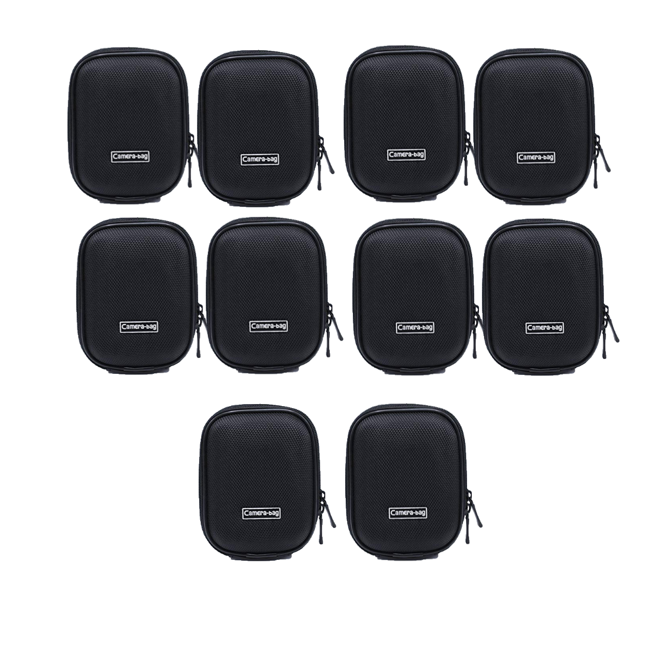 Universal Anti-Shock Hard Shell Camera Case Bag With Blet Loop For Compact Compact Digital Camera Sony Nikon Canon (Black) Camera Bag -237 Pack Of 10Pcs Camcorder & Camera Accessories Camera Bags