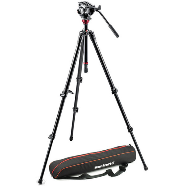 Manfrotto MVH500AH Fluid Head & 755XB Tripod with Carrying Bag Pro Video Manfrotto