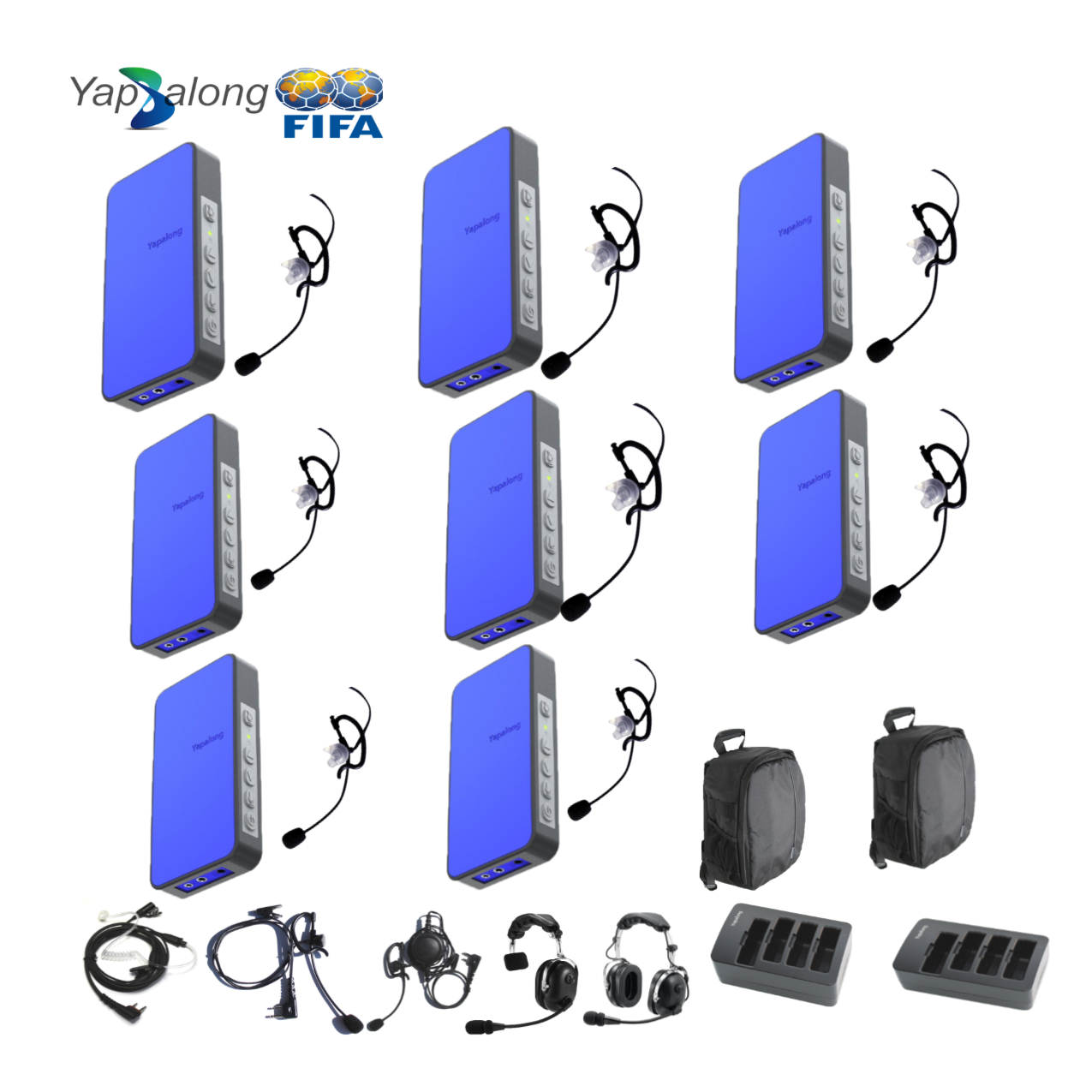 Yapalong 5000 (8-User) Complete Set Communications & IFB Intercom Systems