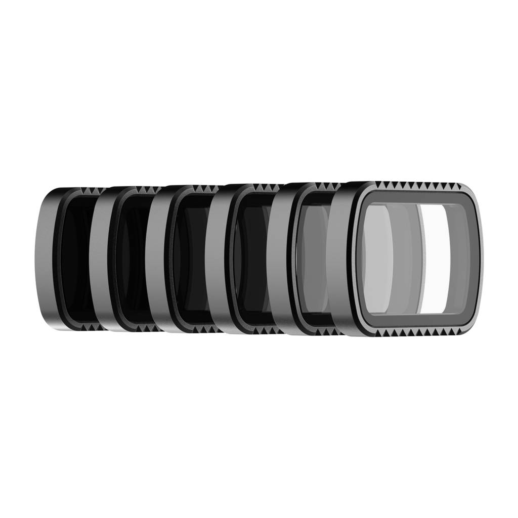 PolarPro Standard Series 6-Pack Filter Kit for DJI Osmo Pocket (Circular Pol, ND4, ND8, ND16, ND32 & ND64) Action & 360 Video Camera Dji