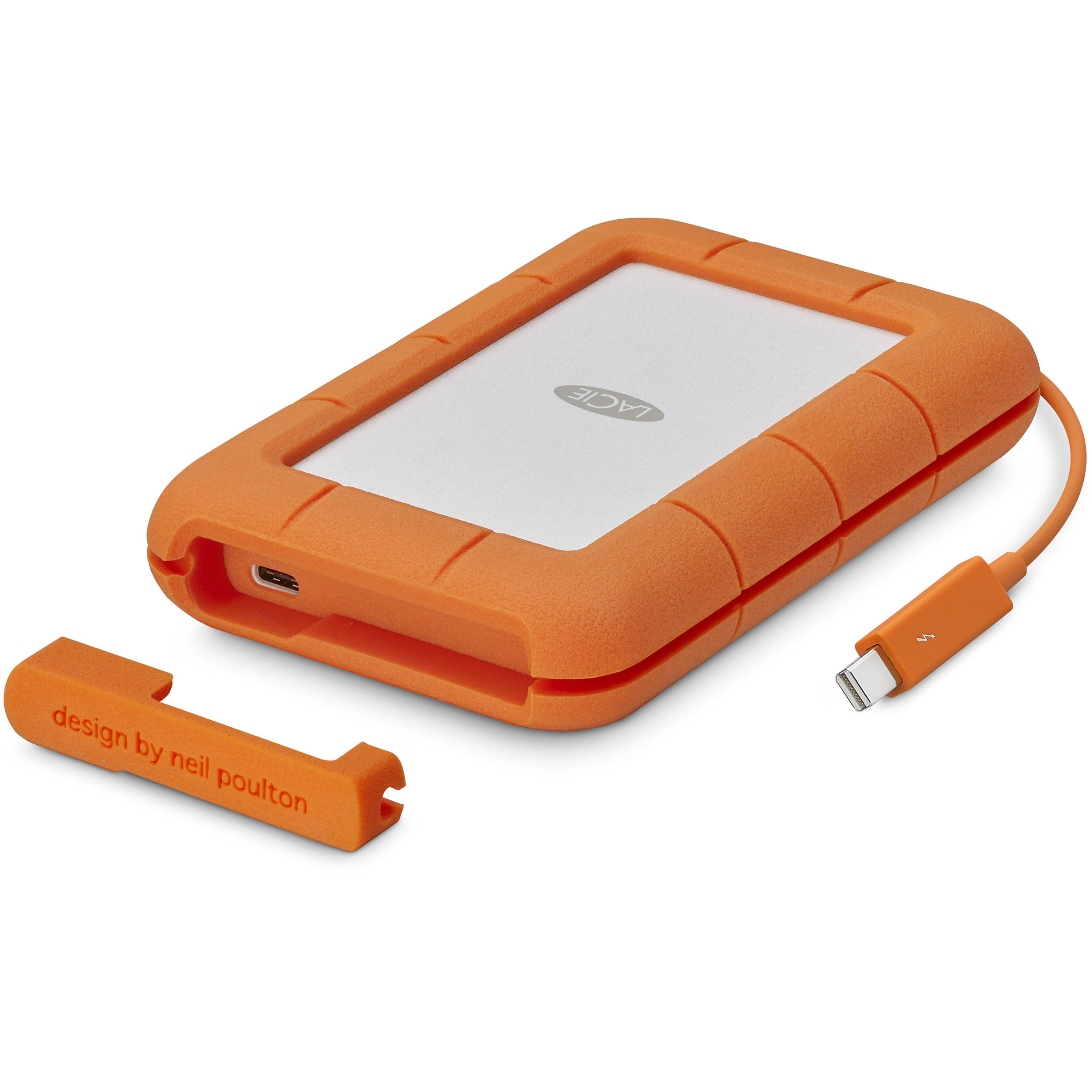 LaCie 1TB Rugged Thunderbolt External SSD with USB Type-C Port Digital Media LACIE