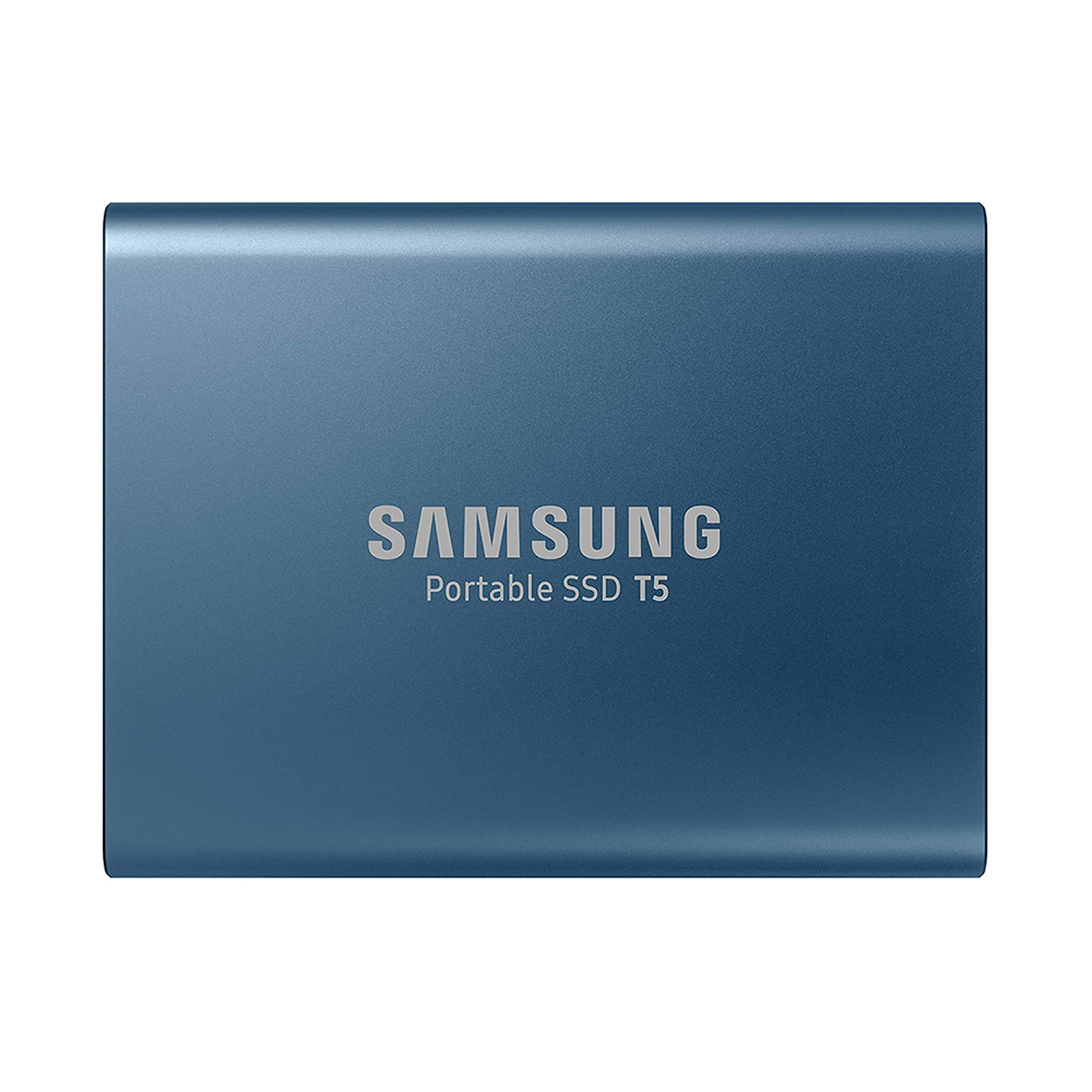 Samsung 500GB T5 Portable Solid-State Drive (Blue) Digital Media Memory Card/ Hard Drive