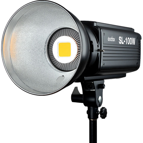 Godox SL-100 LED Video Light (Daylight-Balanced) Continuous Lighting Camera Flashes