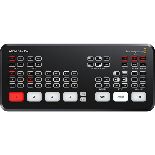 Blackmagic Design ATEM Mini Pro HDMI Live Stream Switcher Pro Video Black Magic