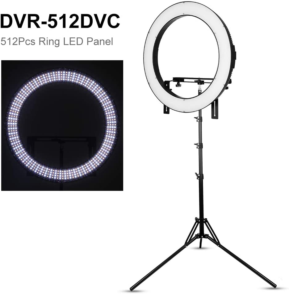 Falcon Eyes DVR-512DVC LED Ring Light Black Continuous Lighting Falcon Eyes