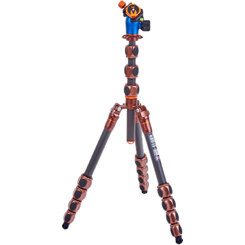 3 Legged Thing Albert 2.0 Tripod Kit with AirHed Pro Ball Head (Bronze and Blue) Pro Video 3 Legged Thing