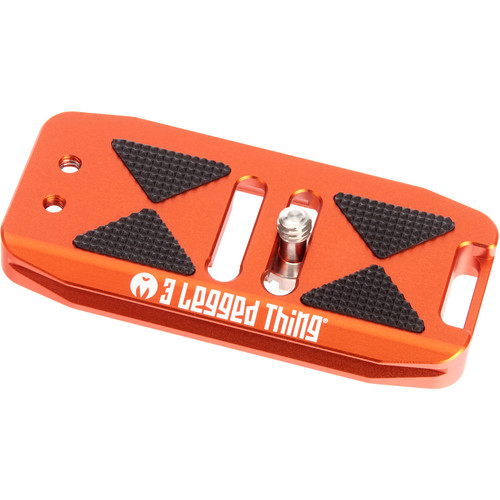 3 Legged Thing BASE85 Arca-Swiss Compatible 85mm Wide Quick Release Plate (Copper/Orange)