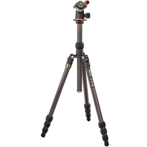 3 Legged Thing Punks Series Billy Carbon Fiber Tripod with AirHed Neo Ball Head (Black) Pro Video 3 Legged Thing
