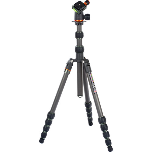 3 Legged Thing Punks Brian Travel Tripod with Airhed Neo Ball Head (Carbon Fiber, Black/Gray) Pro Video 3 Legged Thing