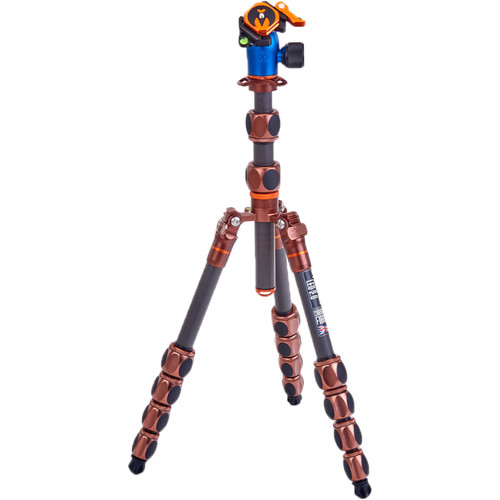 3 Legged Thing Leo 2.0 Tripod Kit with AirHed Pro Lever Ball Head (Bronze and Blue) Pro Video 3 Legged Thing