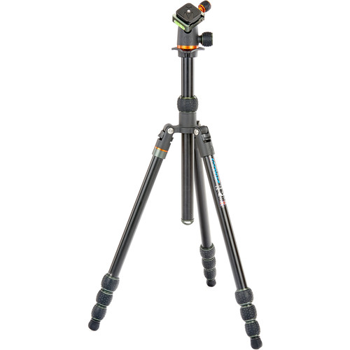 3 Legged Thing Travis Aluminum Travel Tripod with AirHed Neo Ball Head (Black) Pro Video 3 Legged Thing