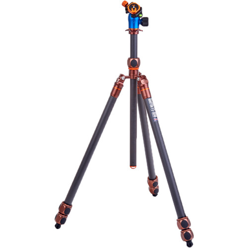 3 Legged Thing Winston 2.0 Tripod Kit with AirHed Pro Ball Head (Bronze and Blue) Pro Video 3 Legged Thing