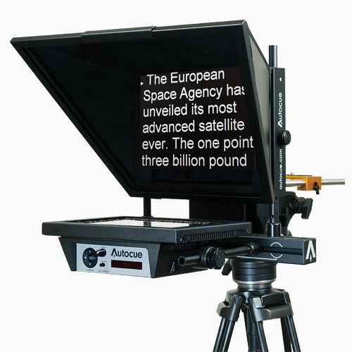 Autocue/QTV MSP12MWARP 12″ Bottom-Mounted Master Series Prompter Pro Video Autocue